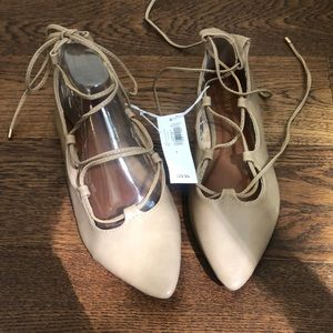 Lace up flats by Old Navy